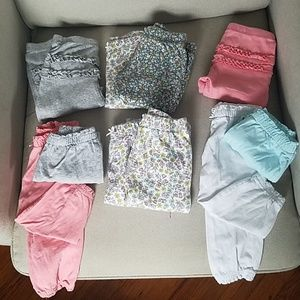 9 month Twin Baby Girl Pants lot